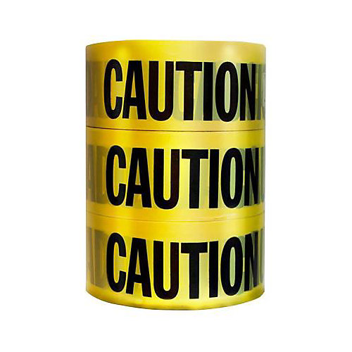 Rubans CAUTION 3 rubans