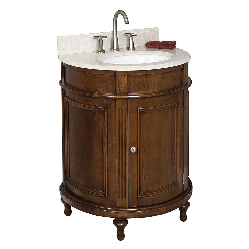 American Imaginations 30-inch W Vanity in Brown