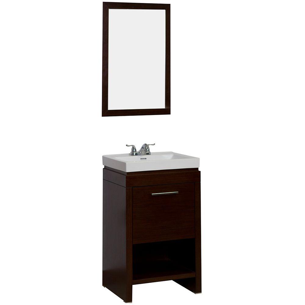 American Imaginations 21.5-inch W Vanity in Brown