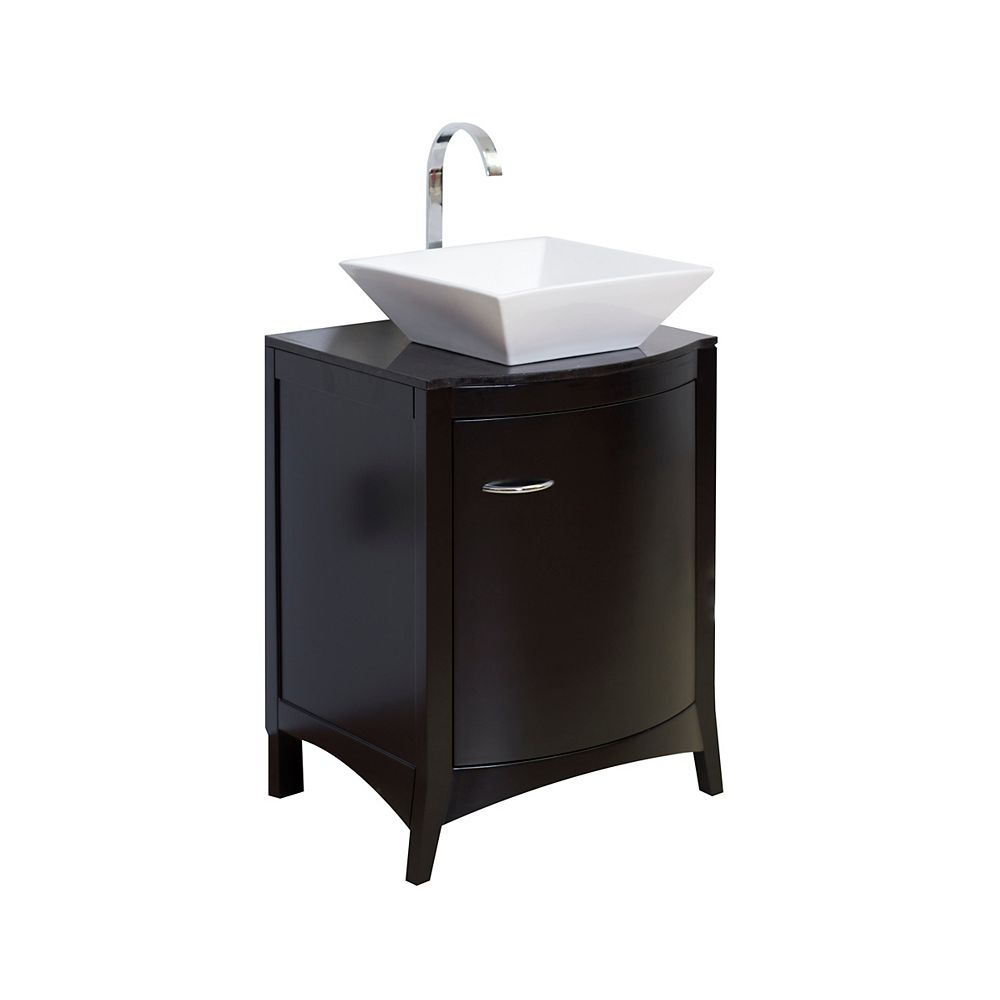 American Imaginations 22-Inch  W by 20-Inch  D Vanity Cabinet in Matte Black