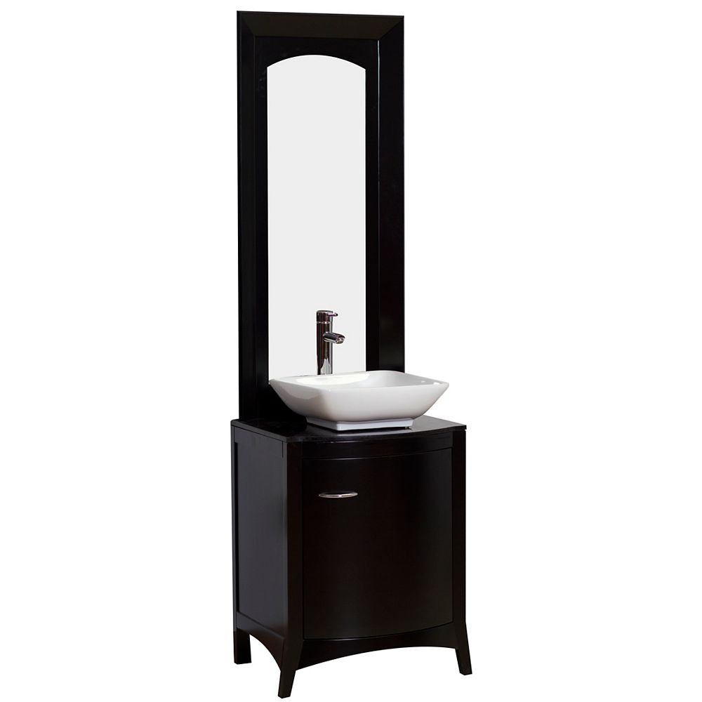 American Imaginations 22-inch W Vanity in Black - AI-2-1169