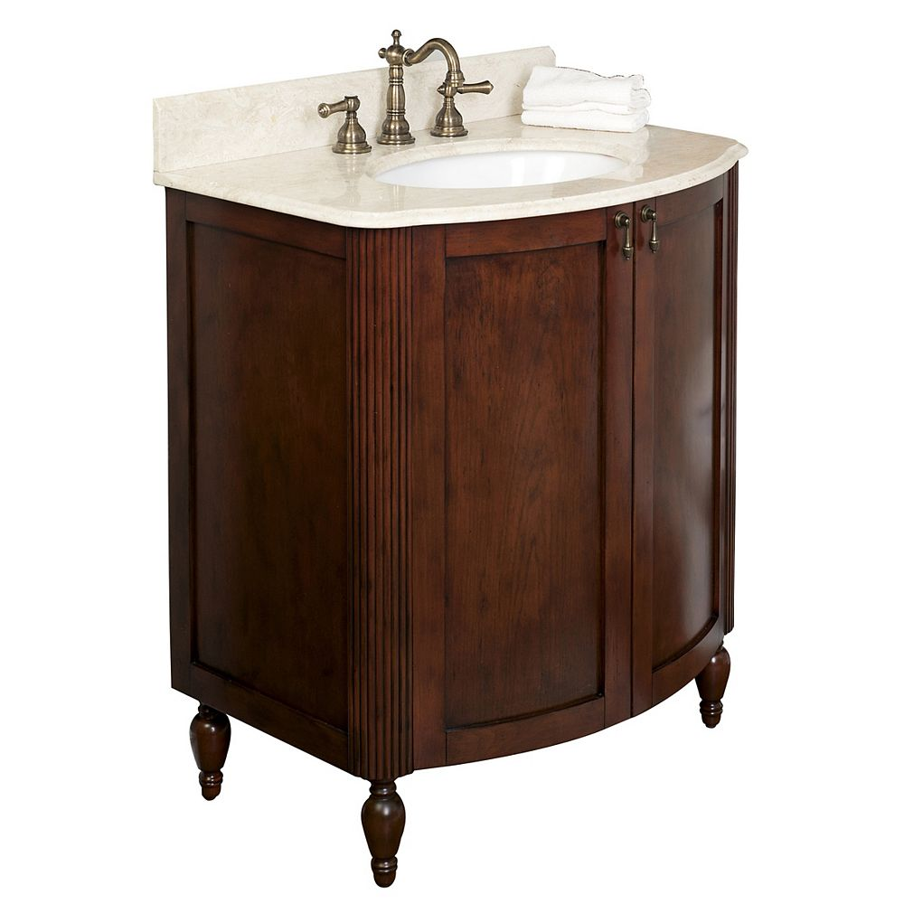 American Imaginations 31-Inch  W by 21-Inch  D Vanity Cabinet in Antique Cherry