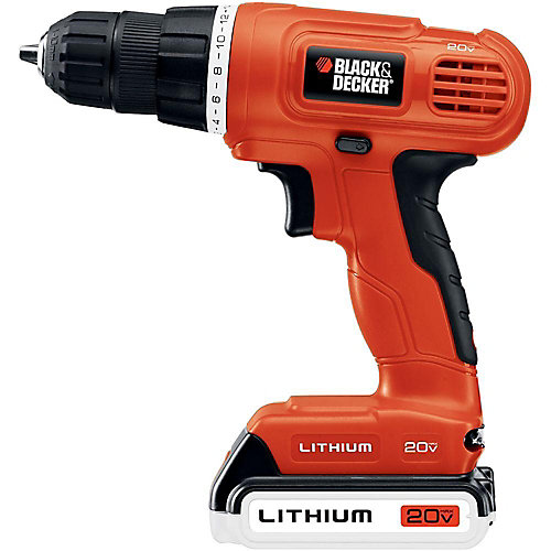 20V MAX Lithium-Ion Cordless 3/8-inch Drill/Driver with Battery 1.5Ah and Charger