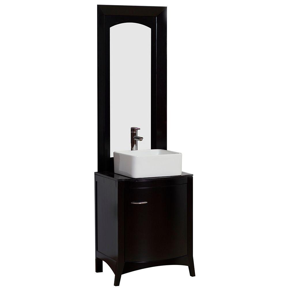 American Imaginations 22-inch W Vanity in Black - AI-2-1175