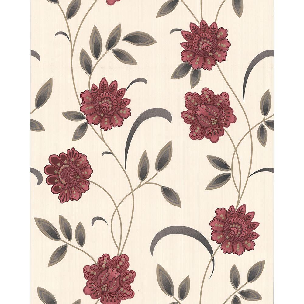 Graham & Brown Sadie Red Wallpaper Sample