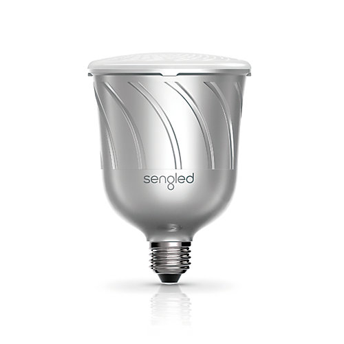 Pulse - Dimmable LED Light with Wireless JBL Bluetooth Speaker (Additional Satellite bulb), Pewter