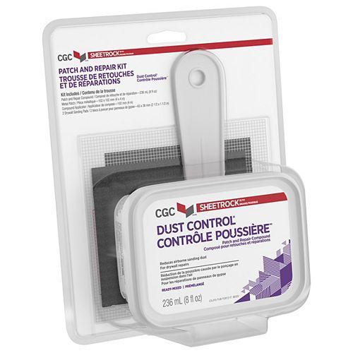 Composé de contrôle de la poussière pour cloison sèche, correctif et trousse de réparation