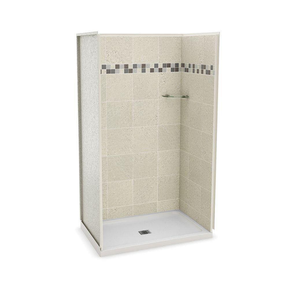 MAAX Utile 32-inch x 48-inch Alcove Shower Stall in Stone Sahara