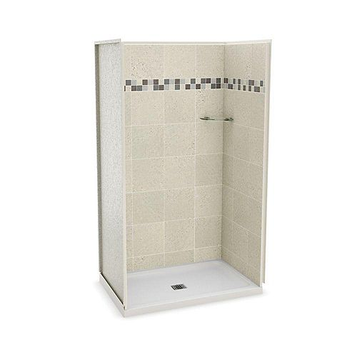 MAAX Utile 32-inch x 48-inch Alcove Shower Stall in Stone Sahara