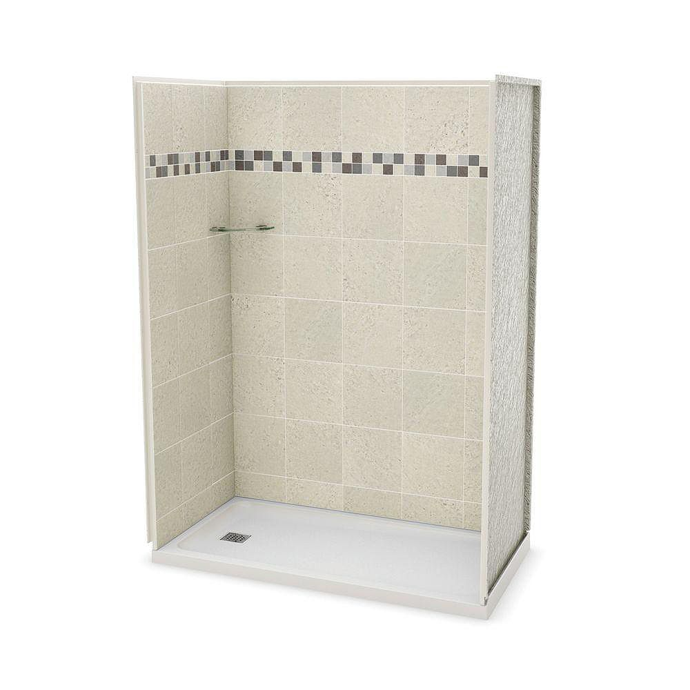 MAAX Utile 32-inch x 60-inch Alcove Shower Stall in Stone Sahara