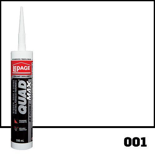 QUAD MAX 280mL White #001 All Weather Door & Siding Sealant