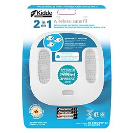 Wink Wireless Compatible Interconnected Combination Smoke and CO Alarm with Voice Alert