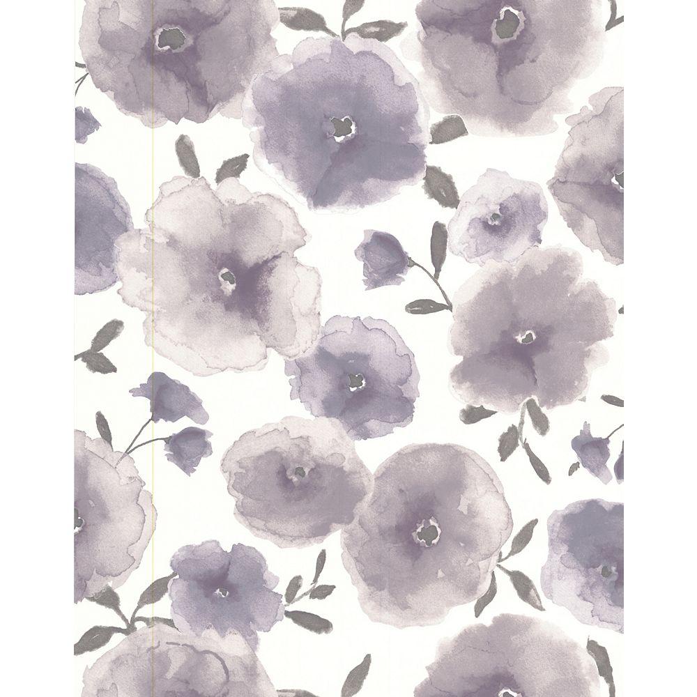 Superfresco Coquelicots Papier Peint Violet - échantillon