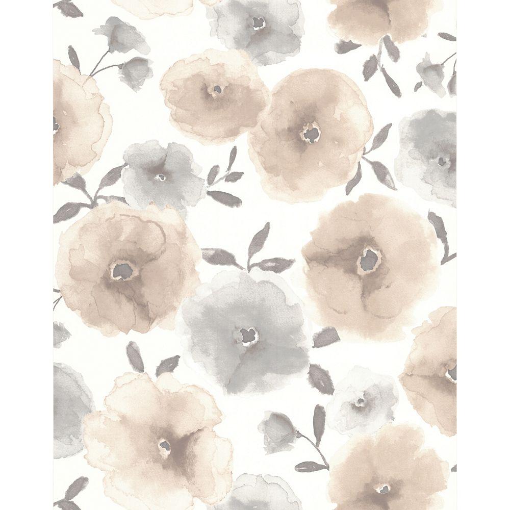 Superfresco Poppies Natural Wallpaper Sample