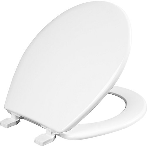 Round Plastic Closed Front Toilet Seat