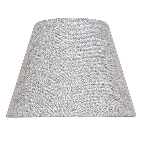 Abat-jour de lampe de table Empire Type cloche Gris Mix & Match 14 po x 10,5 po
