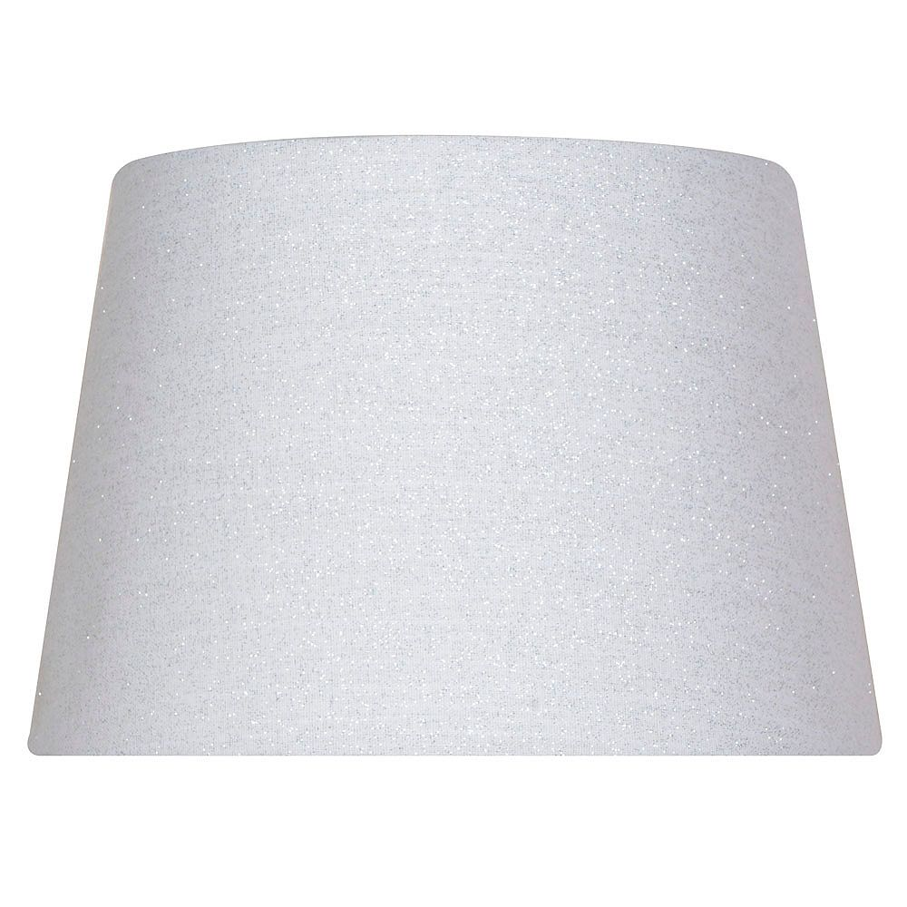 Hampton Bay Mix and Match 10 inch x 7 inch White with Sparkles Round Accent Lamp Shade