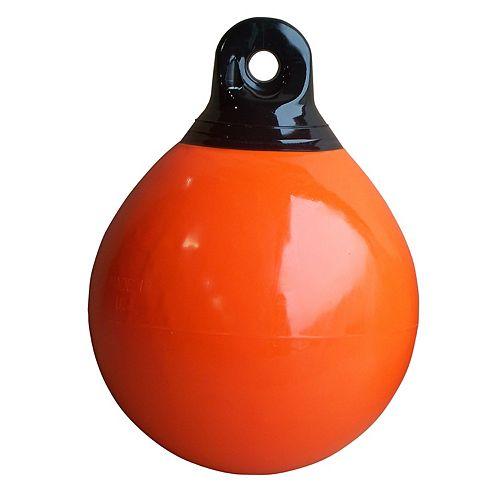 Bouée d'amarrage gonflable, 15 pouces, orange