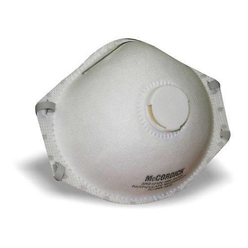 Masque à poussière avec soupape d'exhalation, 10/paq.