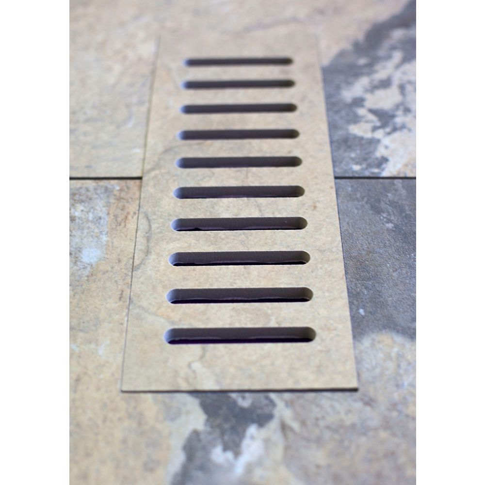 Aod Stone Porcelain vent cover made to match Bengal Autumn tile. Size - 4-inch x 11-inch