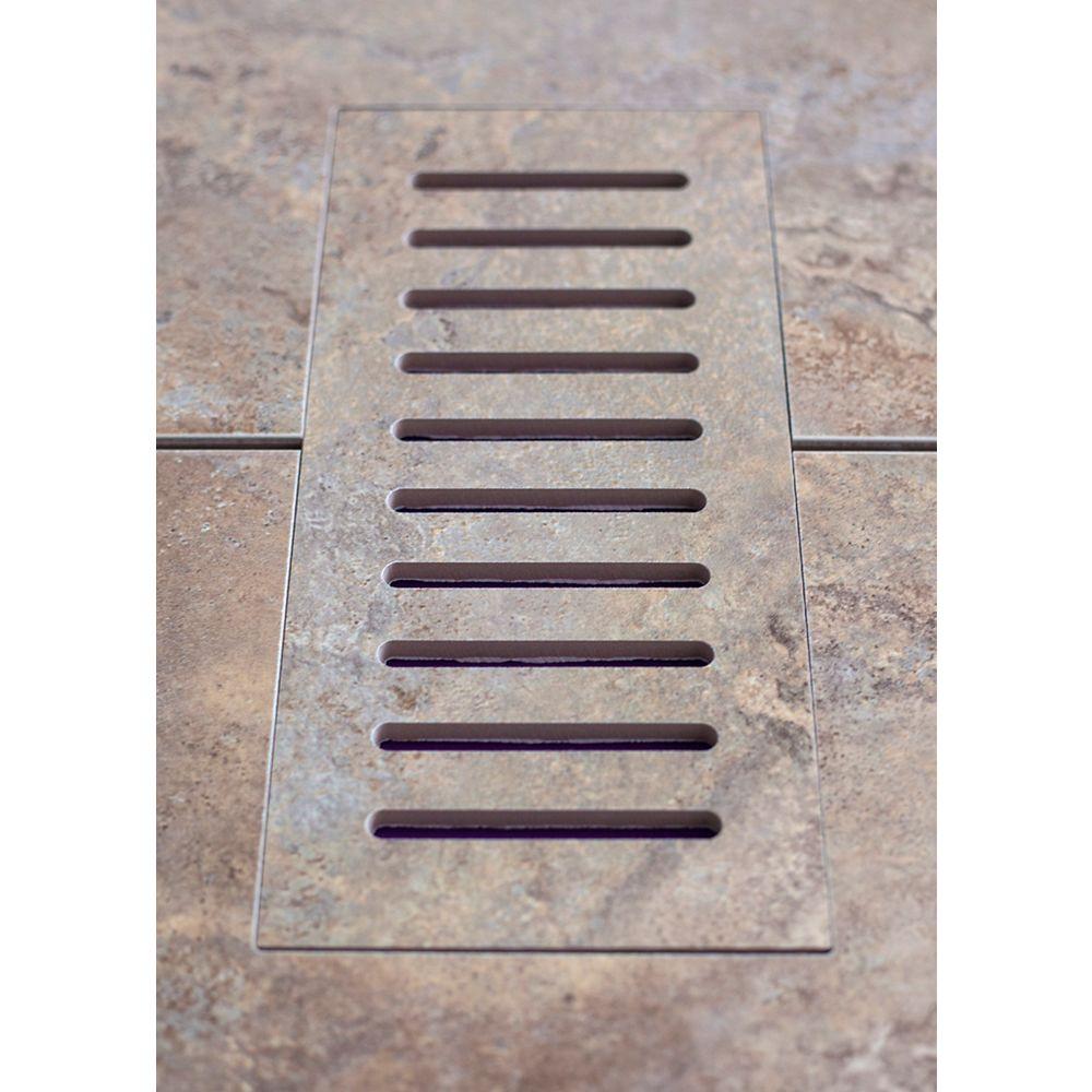 Aod Stone Porcelain vent cover made to match Estrusca Villa tile. Size - 4-inch x 11-inch
