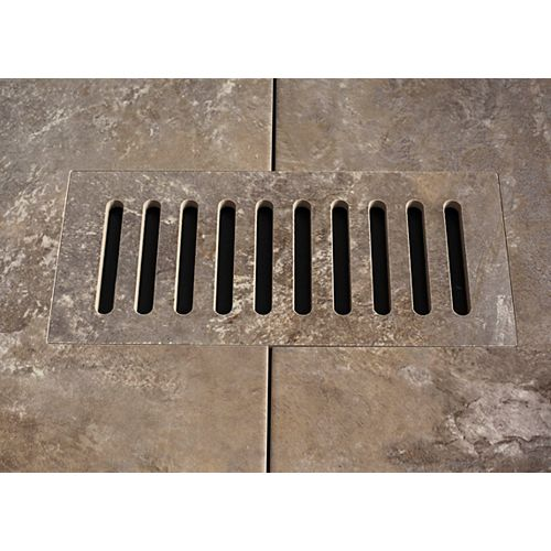Ceramic vent cover made to match Addison Place Studio Grey tile. Size - 4-inch x 11-inch