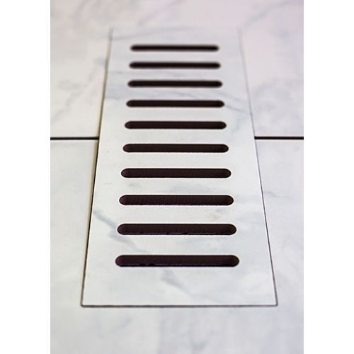 3-inch x 10-inch Ceramic Vent Cover in Carrara