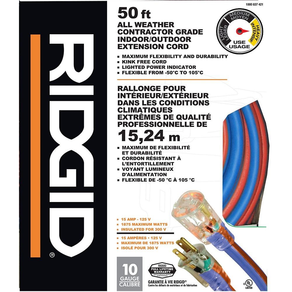 RIDGID All Weather Extension Cord