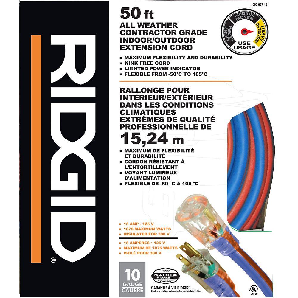 RIDGID Rallonge Résistante aux intempéries de 15,24 m