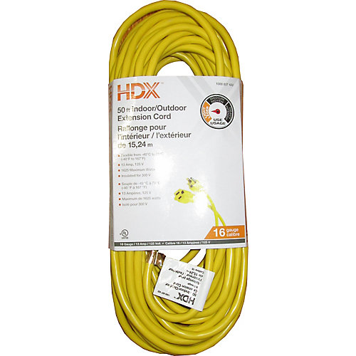 50 ft. 16-Gauge Indoor/Outdoor Extension Cord