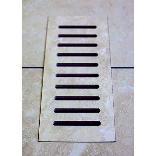 Porcelain vent cover made to match Astral Grey tile. Size - 5-inch x 11-inch