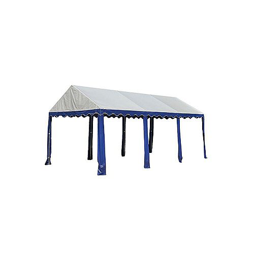 10 ft. x 20 ft. Party Tent in Blue/White