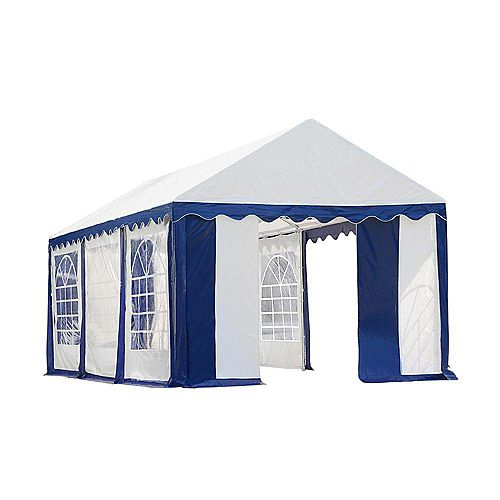 10 ft. x 20 ft. Party Tent & Enclosure Kit in Blue/White