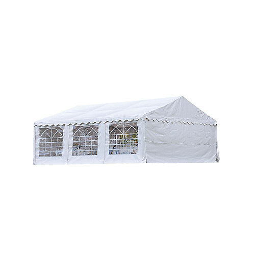 20 ft. x 20 ft. Party Tent & Enclosure Kit in White