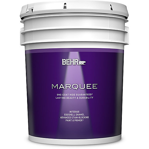 Marquee 18.9 L Ultra Pure White Eggshell Enamel Interior Paint with Primer