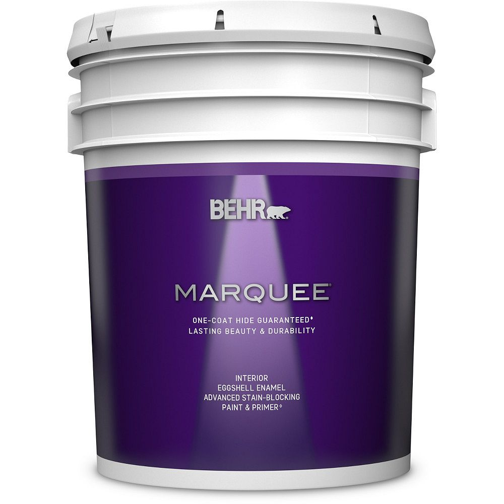 Behr Marquee 18.9 L Ultra Pure White Eggshell Enamel Interior Paint with Primer 245005C