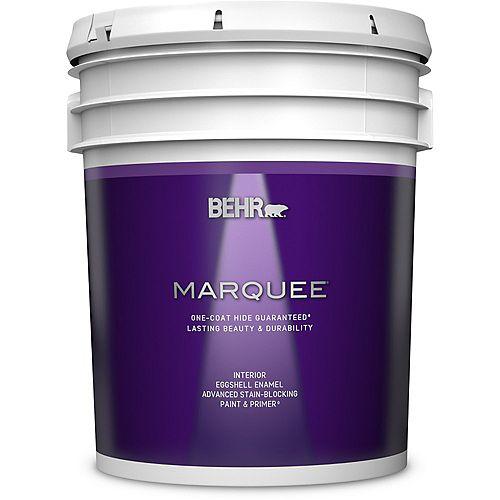 Peinture et apprêt en un MarqueeMD dintérieur avec fini émail coquille dœuf blanc ultra pur (18,9L)