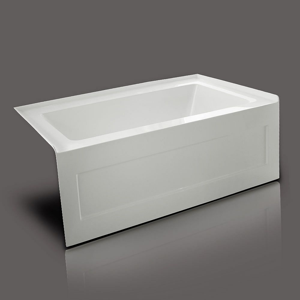 Valley Quad 5 Feet Acrylic Bathtub in White
