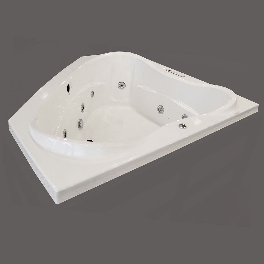 Valley VITA Acrylic Corner Drop-in Whirlpool Bathtub in ...