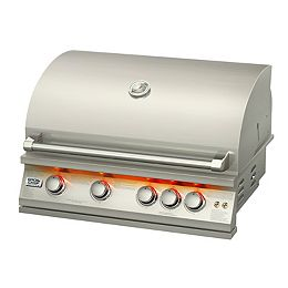 72,000 BTU 32-inch 5-Burner Stainless Steel Built-In Propane/Gas BBQ