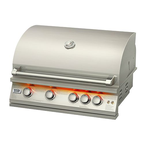 Broilchef 72,000 BTU 32-inch 5-Burner Stainless Steel Built-In Propane/Gas BBQ