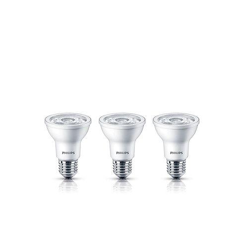 Philips 50W Equivalent Bright White (3000K) PAR20 LED Light Bulb  (3-Pack)