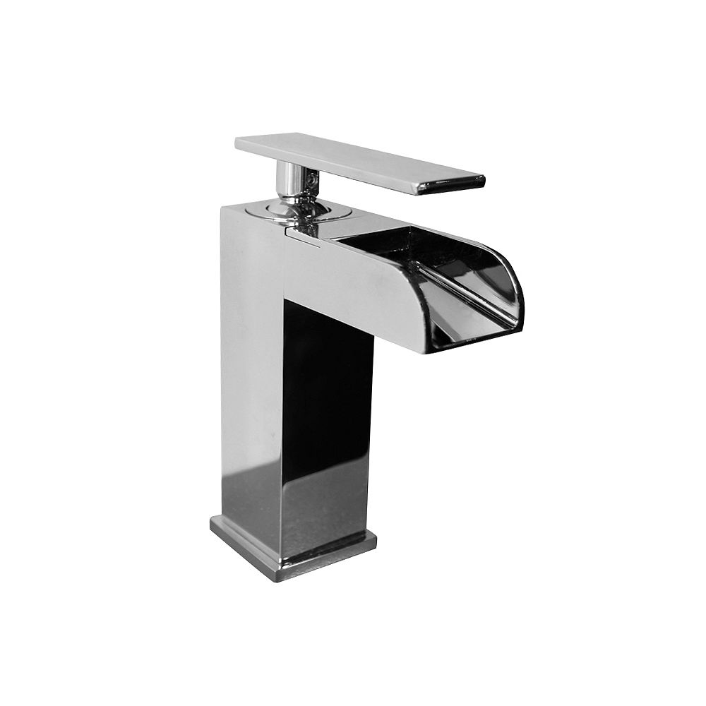 Valley Love211 Single Hole 1-Handle Low Arc Waterfall-Flow Bathroom Faucet in Chrome with Lever Handle