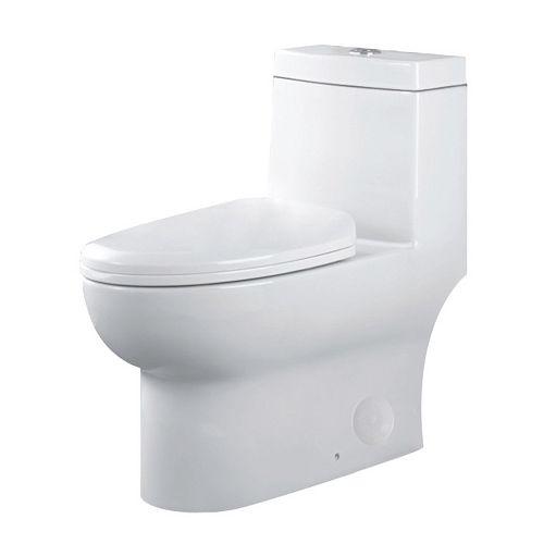 Caroline 1-Piece Dual-Flush Elongated Bowl Toilet