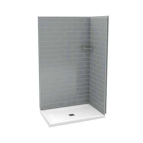 Utile 32-Inch x 48-Inch Corner Shower Stall in Metro Ash Grey