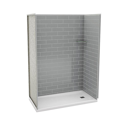 Utile 32-Inch x 60-Inch Alcove Shower Stall in Metro Ash Grey