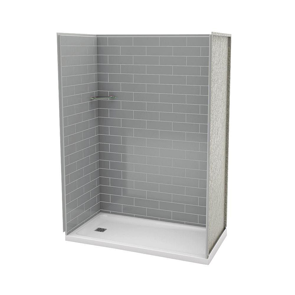 MAAX Utile 32-Inch x 60-Inch Alcove Shower Stall in Metro Ash Grey