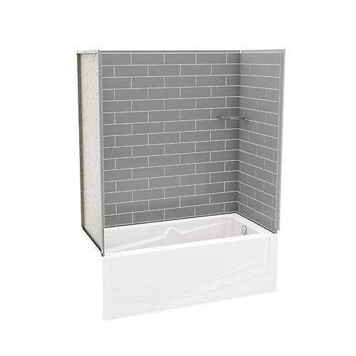 Utile ensemble de murs gris Cendre avec bain Avenue-droite