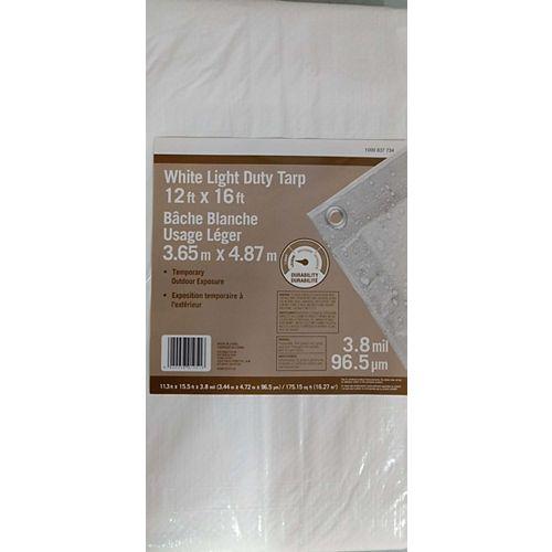 12 ft. x 16 ft. All-Purpose Tarp in White