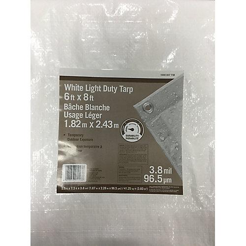 6 ft. x 8 ft. All-Purpose Tarp in White
